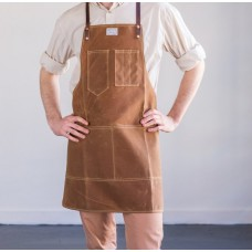 Apron Waxed Cotton Leather Y Strap Small