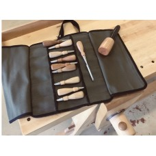 Canvas Tool Roll 10 Pocket